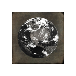 queence Holzbild World, Weltkarte (1 Stück) 40 cm x 40 cm