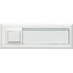 Grothe 51015 Klingeltaster mit Namensschild, beleuchtet 1fach Weiß 12 V/1,5A
