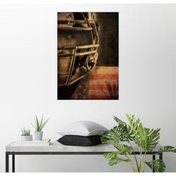 Posterlounge Wandbild, Affe als Footballspieler 100 cm x 130 cm