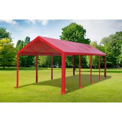 3x8 m Partyzelt PVC rot