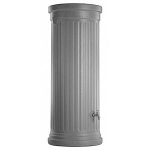 Säulentank 500 L Garantia Regentonne steingrau Regentank Wassertank Regentonne