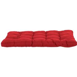GMD Living Sitzkissen PREMIUM PALETTE, 1 Sitzkissen, rot, 12 cm Polsterhöhe rot 1 Sitzkissen, rot - 80 cm x 120 cm