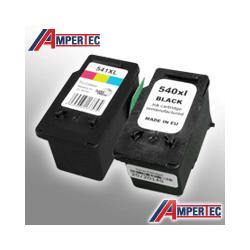 2 Ampertec Tinten für Canon PG-540XL+CL-541XL  4-farbig / doppelte Füllmenge