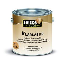 SAICOS Klarlasur, farblos, Farbloser Öl-Anstrich auf Naturöl-Basis für den Außenbereich, 2,5 Liter - Dose
