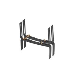 BigDean Wandhalter Blumenkastenhalter Standard H−Form Kasten Halter Balkonkastenhalter, 1-St. grau