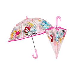 p:os Langregenschirm Kinderregenschirm Disney Princess, 42/8 manuell rosa