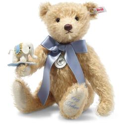 Steiff 006166 Teddybär mit Elefäntle, Mohair, 30 cm, beige