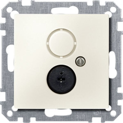 Merten 297444, Lautsprecher-Steckdosen-Einsatz, weiß, System M