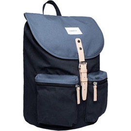 Sandqvist Roald Ground 17 multi blue/dusty blue with natural leather
