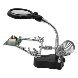 Helping Hand mit LED-Licht + Lupe
