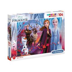 Clementoni® Puzzle Puzzle 104 Teile Supercolor Die Eiskönigin 2, Puzzleteile