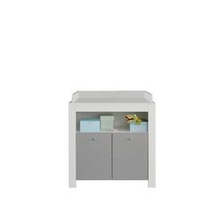 ebuy24 Wickelkommode Petrol Wickelkommode 2 Türen und 1 Ablage, weiss u