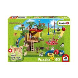 Schmidt Spiele Puzzle Puzzle Schleich Farm World inkl. Schleich-Figur -, Puzzleteile