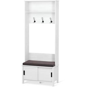 Garderobe mit Sitzbank - Tchibo - Schwarz - Holz
