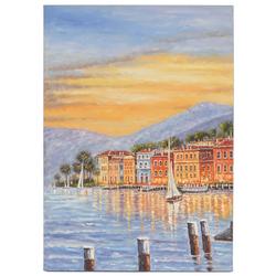 Ölgemälde Küste, 100% handgemaltes Wandbild Gemälde XL, 70x50cm