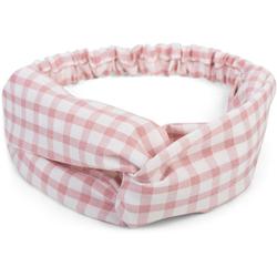 styleBREAKER Haarband Haarband mit Karo Muster und Twist Knoten, 1-tlg., Haarband mit Karo Muster und Twist Knoten rosa