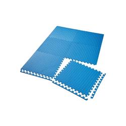 tectake Bodenschutzmatte Bodenschutzmatte 6-tlg. blau