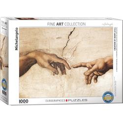 empireposter Puzzle Michelangelo - Die Erschaffung Adams - 1000 Teile Puzzle Format 68x48 cm, 1000 Puzzleteile