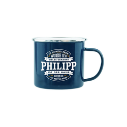 HTI-Living Becher Echter Kerl Emaille Becher Philipp
