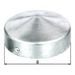 Pfostenkappe D.80mm rd.flache Form TZN GAH