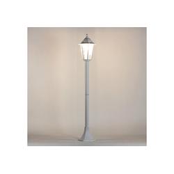 Licht-Erlebnisse Außen-Stehlampe PARIS Wegeleuchte Stehlampe Weiß rustikal E27 Hof Terrasse Lampe