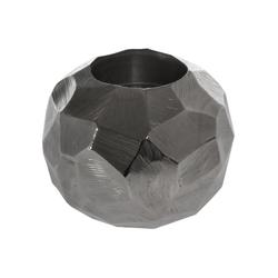 elbmöbel Teelichthalter Teelichthalter gehämmert, Teelichthalter: Dekoration 12x10x12 cm silber modern teelicht