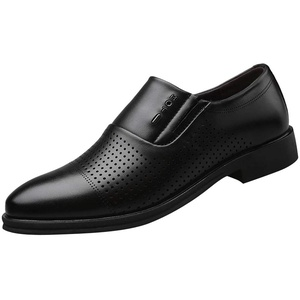 Herren Lederschuhe Casual Pointed Toe Oxford Leder Hochzeitsschuhe Business Schuhe Formale Perforierte Atmungsaktive Herrenschuhe Hohle Einzelschuhe, Schwarz, 45 EU