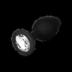 Silikon-Analdildo mit Kristall, S, 7 cm