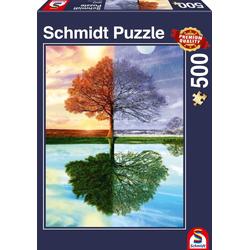 Jahreszeiten-Baum. Puzzle 500 Teile