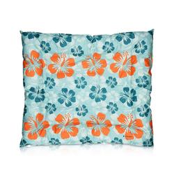 Navaris Tierbett, Kühlmatte für Hunde und Katzen - cooles Print Design - Selbstkühlendes Hundebett Katzenbett - Kühlpad Bett Hund Katze blau