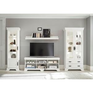 Home affaire Wohnzimmer-Set Royal, (4-St), Bestehend aus 2 Vitrinen, 1 Lowboard und 1 Wandregal