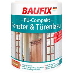 BAUFIX Lasur PUR Compakt, für Fenster- und Türen, Eiche hell, 1 l natur