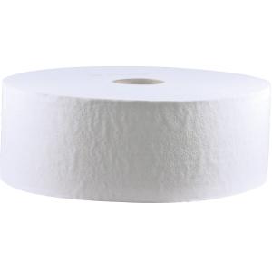 CWS Toilettenpapier Großrolle, 2-lagig, Weißes Großrollen-Toilettenpapier, 100% Recylcing, 1 Paket = 6 Rollen à 1520 Blatt, unperforiert