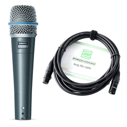 Shure Beta 57A Instrumentenmikrofon Set inkl. 5m Kabel