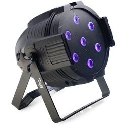 LED Spotlight m. 7 x 10W RGBW 4-in-1 LEDs
