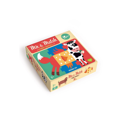Magellan Puzzle Mix & Match - Funny Animals, Puzzleteile, Made in Europe