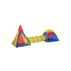 HOMCOM Spielzelt Spielzelt mit Tunnel