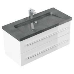 Emotion Waschtisch Badmöbel Granit G654 Damo 100 cm 1 Hahnloch weiß hochglanz