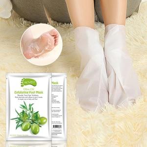 Fuß Peeling Maske Fußmaske Hornhautsocke, Colorful (TM) Entfernen abgestorbene Haut Fuß Maske Peeling Nagelhaut Ferse Fußpflege Anti Aging (Oliven)