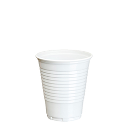 Papstar Trinkbecher, PP, weiß, Weißer Getränkebecher, Ø 7,03 cm, Höhe: 9,9 cm, 1 Packung = 25 Stück
