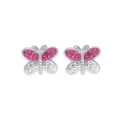 Firetti Paar Ohrstecker Schmetterling, mit Kristallen
