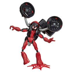 Hasbro Marvel F02365L0 Spider Man mit 2-in-1 Motorrad Figur