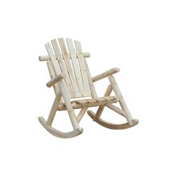 Outsunny Schaukelstuhl Schaukelstuhl mit hoher Rückenlehne