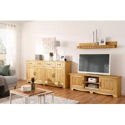 Home affaire Wohnwand Trinidad, (Set, 3-tlg), Set aus 1 Wandboard, 1 Sideboard, 1 Lowboard natur