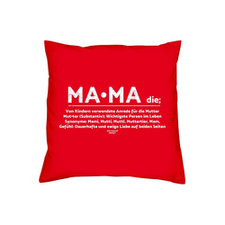 Soreso® Dekokissen Kissen Mama & Urkunde, Geschenk Geburtstagsgeschenk rot