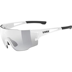 uvex Unisex – Erwachsene, sportstyle 804 V Sportbrille, selbsttönend, white/smoke, one size