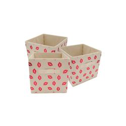 HTI-Living Aufbewahrungsbox Aufbewahrungsbox mit Metallicdruck 3er Set Paloma (3 Stück), Stoffbox