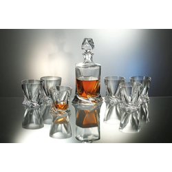 Bohemia Royal 802399 Whisky Set 7tlg. aus Kristallglas