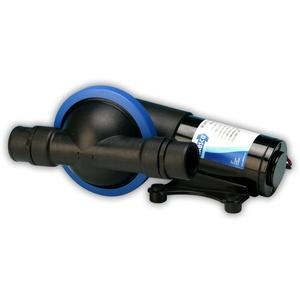 Jabsco Toilettenpumpe 50890 Serie Marine Filter-Less Ablaufgarnitur Pumpe Robust Single Diaphragm Design, 5 gpm, 3,8 cm, schwarz