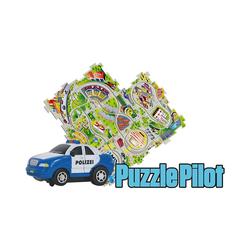 Amewi Spielzeug-Auto Puzzle Pilot Polizei mit Strecke zum Puzzlen